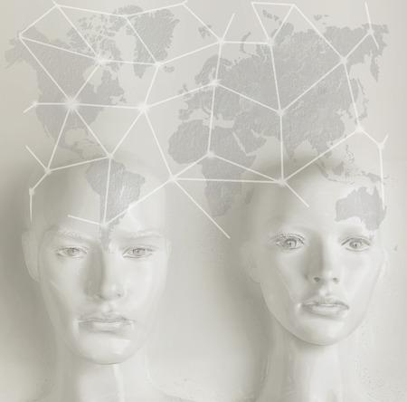 Artificial intelligence concept - globalization, Internet, network Banque d'images - 93948843