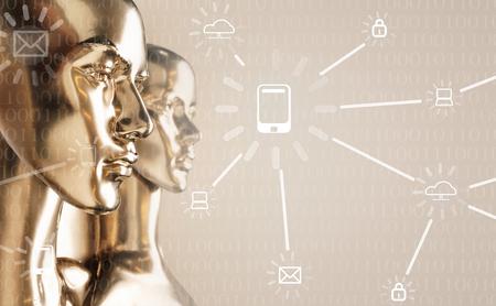 Concept d'intelligence artificielle - mondialisation, Internet, réseau