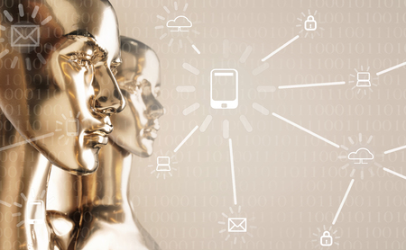 Artificial intelligence concept - globalization, Internet, network Banque d'images