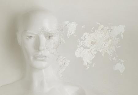 Artificial intelligence concept - world communication Banque d'images - 93948889