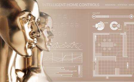 Artificial intelligence concept - smart house Standard-Bild