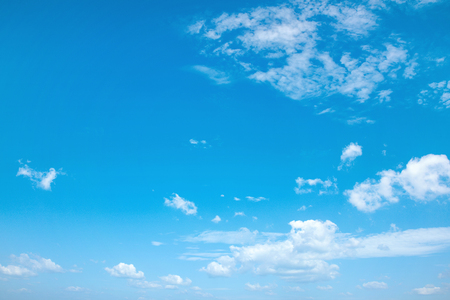 Beautiful view of a summer and cloudy sky Stock Photo
