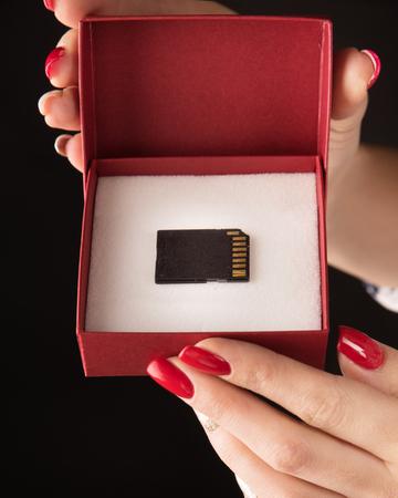 Conceptual picture of a microSD - backup symbol Banco de Imagens