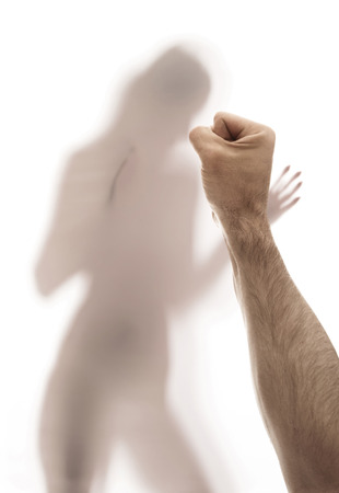 Conceptual picture presenting domestical violence issue