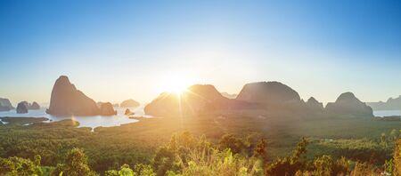 Beautiful landscape of a green, tropical island