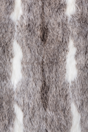 synthetic: Close up of synthetic grey fur texture. Stock Photo