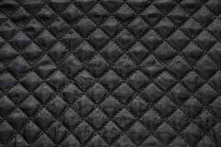 quilted: Close-up of black quilted fabric.