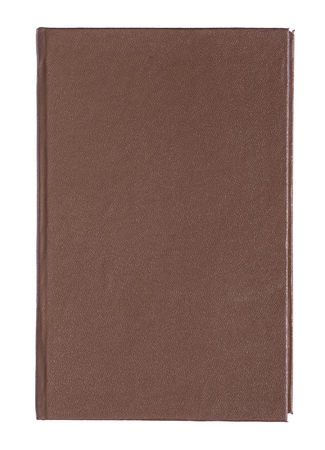 hardcovers: Brown leather book cover on white background.