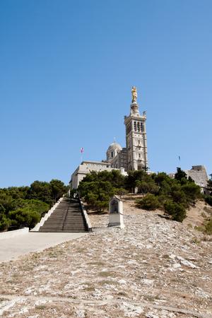 garde: Notre-Dame de la Garde cathedral, Marseille, France.