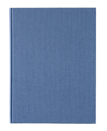 Blue book cover isolated on white background.