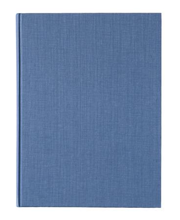 portadas de libros: cubierta de libro azul aislado en el fondo blanco. Foto de archivo