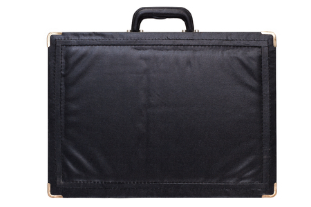 black briefcase: Black briefcase isolated on white background.
