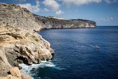 south coast: Cliffs near the Blue Grotto, south coast of Malta.