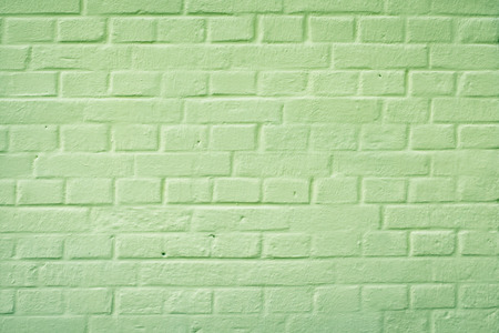 back alley: Back alley brick wall painted green.