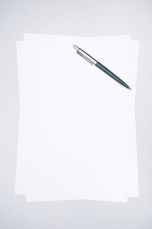 space wood: Blank sheet of paper with pen