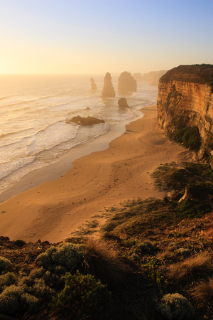 apostles: The famous Twelve Apostles rock formation on the Great Ocean Road, Victoria, Australia.