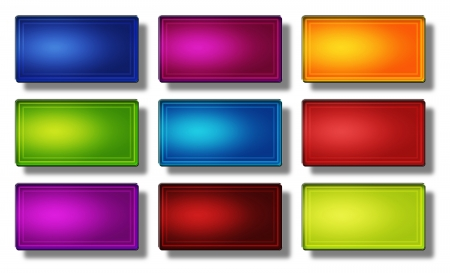 Set of glass, glossy, colored, web buttons Stock Photo - 19866945