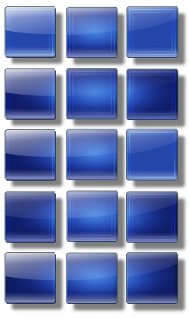 shiny buttons: Set of web buttons made of glass, shiny, colorful, square, rectangle, circle,
