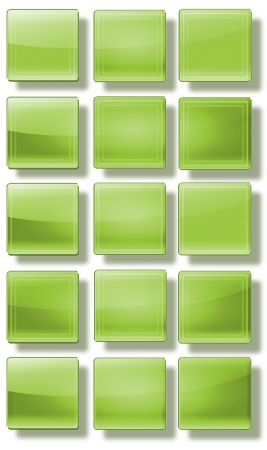 variability: Set of web buttons made ​​of glass, shiny, colorful, square, rectangle, circle,
