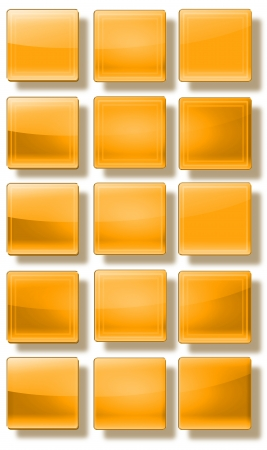 Set of web buttons made of glass, shiny, colorful, square, rectangle, circle, Stock Photo - 20192847