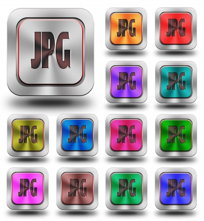 aluminum, steel, chromium, glossy, icon, button, sign, icons, buttons, crazy colors photo