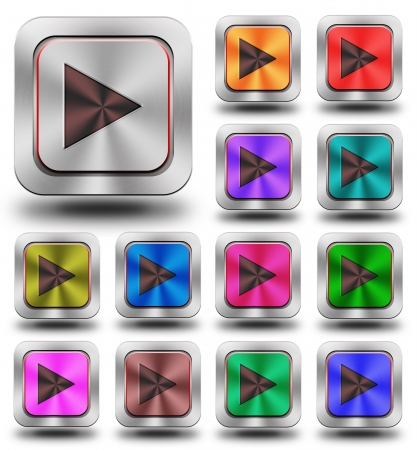 chromium: aluminum, steel, chromium, glossy, icon, button, sign, icons, buttons, crazy colors Stock Photo