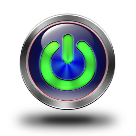 aluminum, steel, chromium, glossy, icon, button, sign, icons, buttons, crazy colors Stock Photo