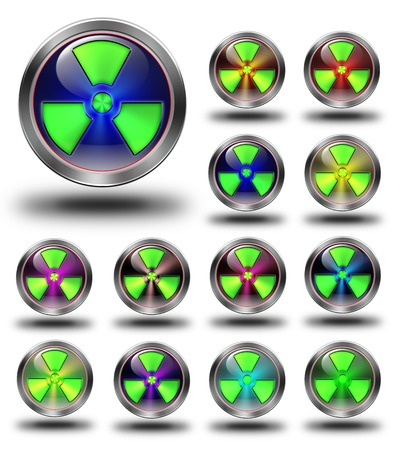 aluminum, steel, chromium, glossy, icon, button, sign, icons, buttons, crazy colors Stock Photo - 24015603