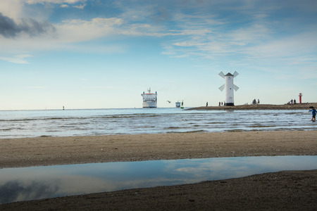 affecting: Affecting ships to the port, roadstead, swinoujscie Stock Photo