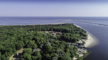 ?winouj?cie Polish seaside resort on the Baltic Sea Standard-Bild