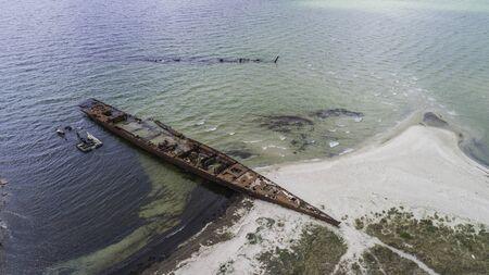 Schiffswrackbucht auf der Halbinsel Hel in der Ostsee