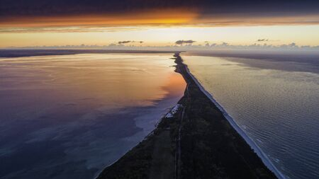 Aerial view of the Hel Peninsula, a charming place on the Baltic Sea, Poland Stock fotó