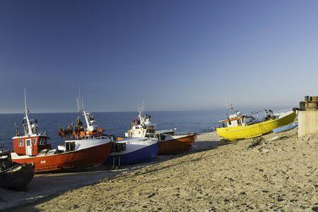 Fishing port on the Baltic Sea - Chlopy Stock Photo