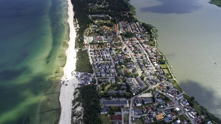 Mielno - a beautiful city and resort between the Baltic Sea and Lake Jamno Stockfoto - 130830513