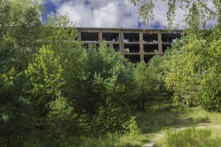 Prora - a gigantic historical  holiday resort on the Baltic Sea on the island of Rgen