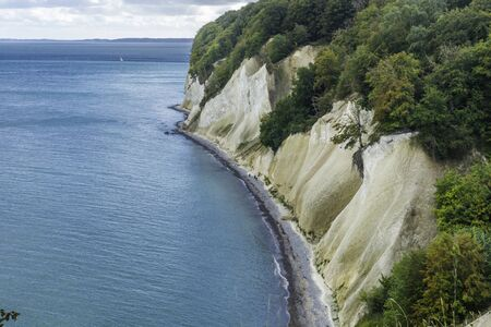 The Chalk Cliffs of Rugen Island, Huge Boulders in the Baltic Sea, Jasmund National Park, Rugen Island, R?gen