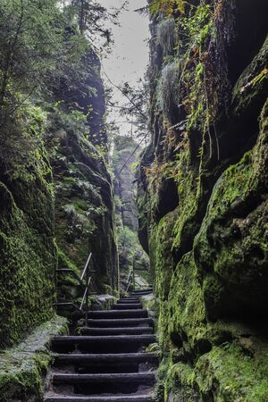 Adrspach Rock City National Park in Czech Republic, Europe