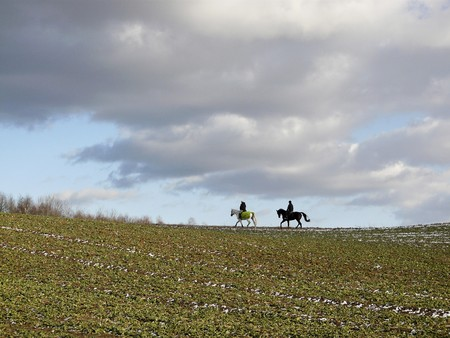 Two riders in March Stock Photo - 7430416