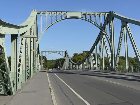 The Glienicke bridge connects Potsdam with Berlin, the German capital. She was part of the Berlin Wall before 1989 and was  closed for the public traffic. Agents and prisoners were repeatedly exchanged here at the period of the Cold war. photo