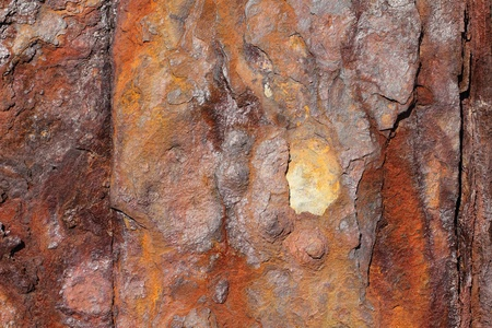 pitting: Structures of rusty iron