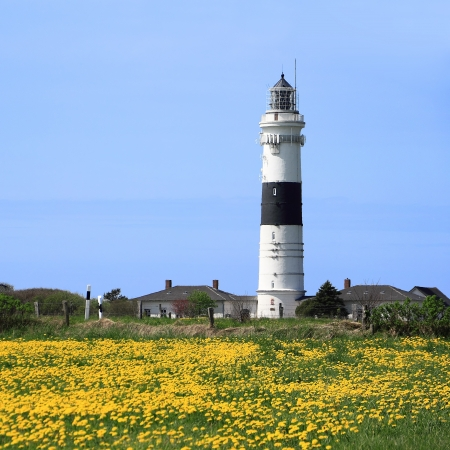 schleswig holstein: The lighthouse of Kampen on the Island of Sylt, Germany Stock Photo