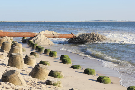 seawall: Sand replenishment for the coast protection on the Island of Sylt