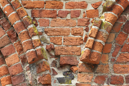romanesque: Fragment of a Romanesque wall in Northern Germany Stock Photo