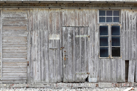 weathering: An old weathering wooden shack