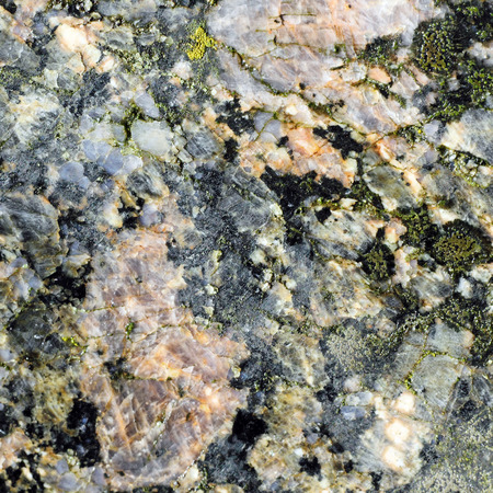 erratic: Texture of the polished surface of Filipstad Granite, macro shot