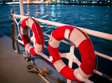 lifebuoy on boat photo
