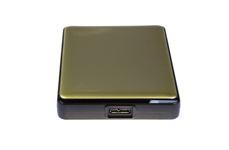 gold color external harddisk  photo