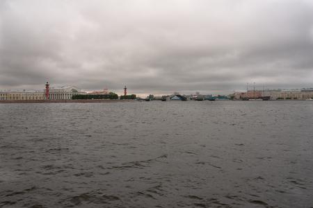 Saint Petersburg, rainy morning