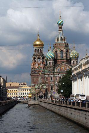 neva:  church of our savior on spilled blood sainct petersburg russia river neva fontanka moyka