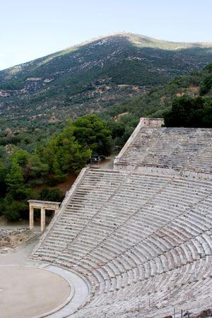 teatro antico: antico teatro antico Santuario di Epidauro Asklepios grecia  Archivio Fotografico